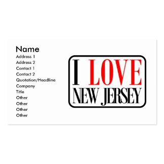 I Love New Jersey Design Double-Sided Standard Business Cards (Pack Of 100)