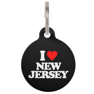I LOVE NEW JERSEY PET NAME TAG