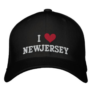 I LOVE NEW JERSEY EMBROIDERED BASEBALL CAP