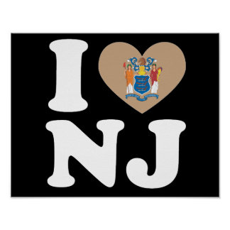 I LOVE NEW JERSEY - Heart Design -.png Poster