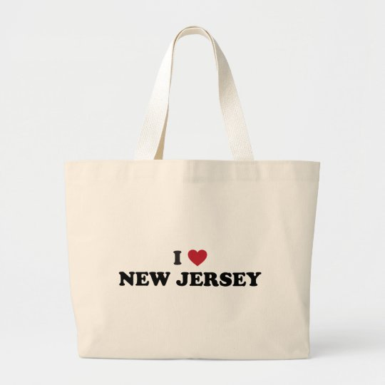 I Love New Jersey Large Tote Bag
