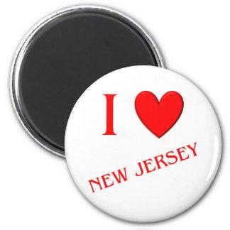 I Love New Jersey Refrigerator Magnets
