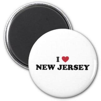 I Love New Jersey Refrigerator Magnet