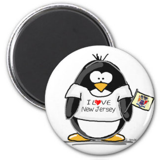I Love New Jersey Penguin Refrigerator Magnet