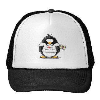 I Love New Jersey Penguin Trucker Hat