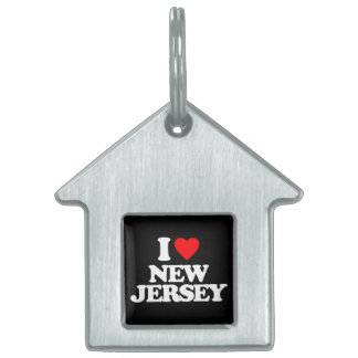I LOVE NEW JERSEY PET NAME TAGS