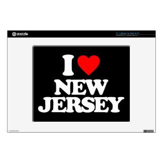 "I LOVE NEW JERSEY 12"" LAPTOP SKIN"