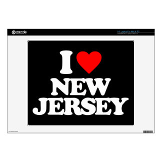 I LOVE NEW JERSEY DECAL FOR LAPTOP