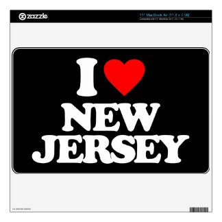 I LOVE NEW JERSEY DECALS FOR MacBook AIR
