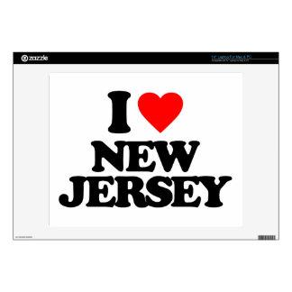"I LOVE NEW JERSEY 14"" LAPTOP SKIN"