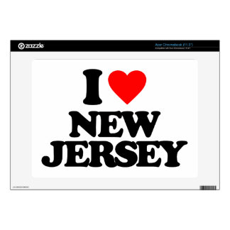 I LOVE NEW JERSEY ACER CHROMEBOOK DECALS