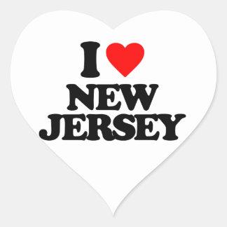 I LOVE NEW JERSEY HEART STICKER