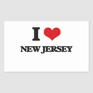 I Love New Jersey Rectangle Stickers