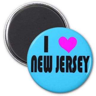 I Love New Jersey USA magnet