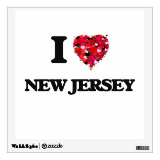 I Love New Jersey Wall Skins