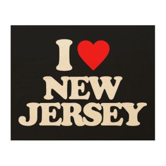 I LOVE NEW JERSEY WOOD WALL ART