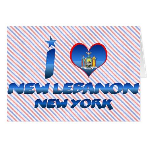 I love New Lebanon, New York Greeting Card