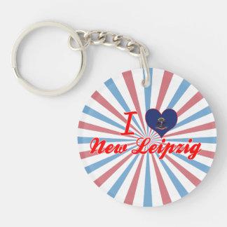 I Love New Leipzig, North Dakota Acrylic Key Chain