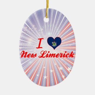 I Love New Limerick, Maine Christmas Ornament