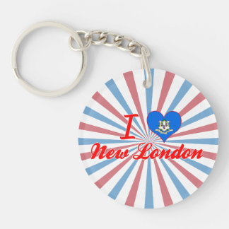 I Love New London, Connecticut Acrylic Key Chains