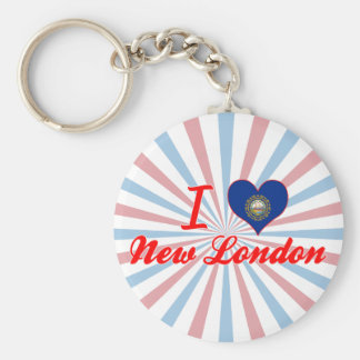 I Love New London, New Hampshire Key Chains