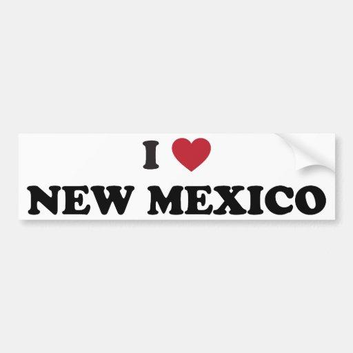 I Love New Mexico Bumper Stickers