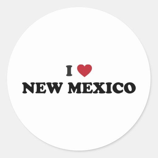 I Love New Mexico Classic Round Sticker