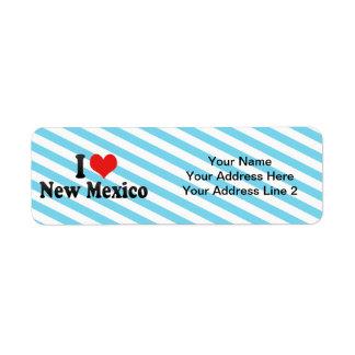I Love  New Mexico Custom Return Address Label