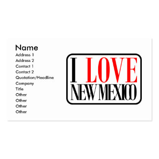 I Love New Mexico Design Business Card Template