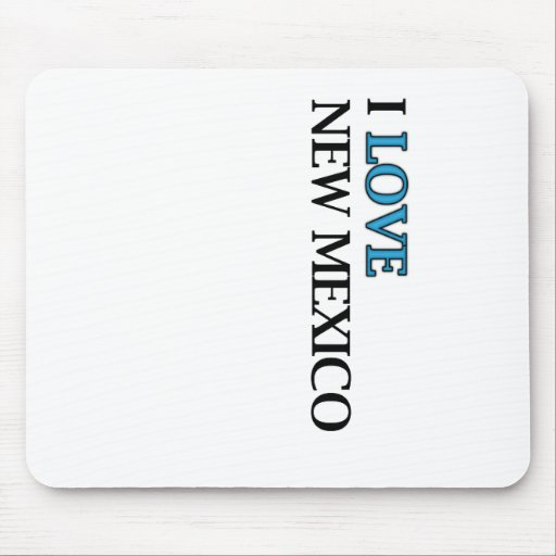 I Love New Mexico Design Mousepads