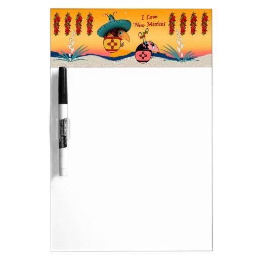 I Love New Mexico Dry-Erase Whiteboards