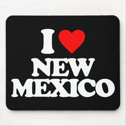 I LOVE NEW MEXICO MOUSEPADS