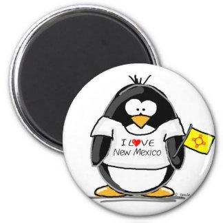 I Love New Mexico Penguin Magnet