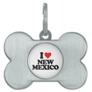 I LOVE NEW MEXICO PET NAME TAGS