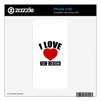 I LOVE NEW MEXICO SKINS FOR THE iPhone 4S