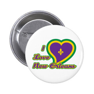 I Love New Orleans 2 Inch Round Button