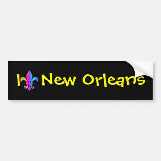 I Love New Orleans Bumper Sticker