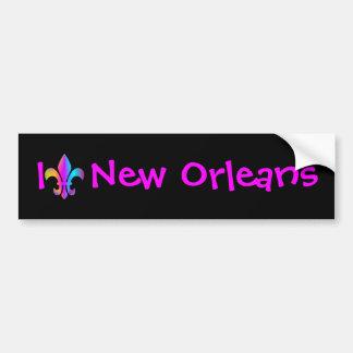 I Love New Orleans Bumper Sticker Car Bumper Sticker