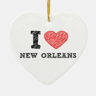 I-Love-New-Orleans Ceramic Ornament