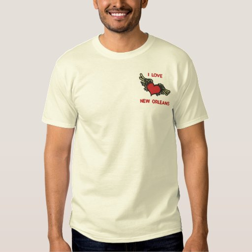 I LOVE NEW ORLEANS Embroidered Tshirt