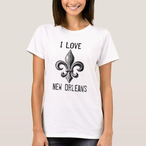 I love new orleans fleur de lis design t shirt zazzle for T shirt printing new orleans