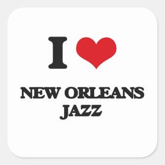 I Love NEW ORLEANS JAZZ Sticker