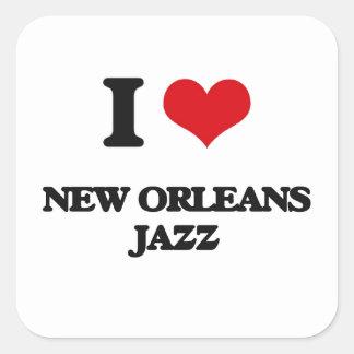 I Love NEW ORLEANS JAZZ Square Sticker