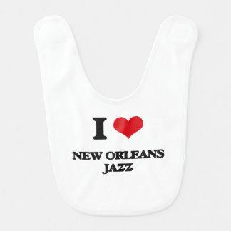 I Love NEW ORLEANS JAZZ Baby Bib