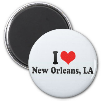 I Love New Orleans, LA 2 Inch Round Magnet