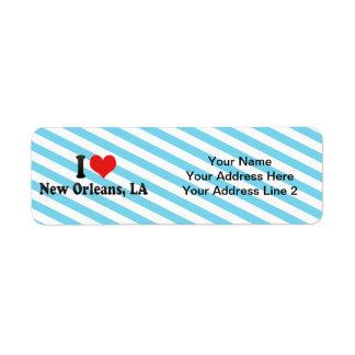 I Love New Orleans, LA Custom Return Address Label