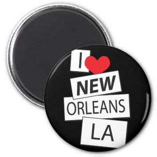I Love New Orleans LA Magnet