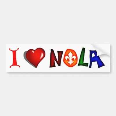 I love new orleans bumper sticker zazzle com