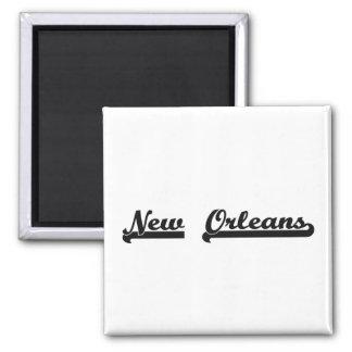 I love New Orleans Louisiana Classic Design 2 Inch Square Magnet