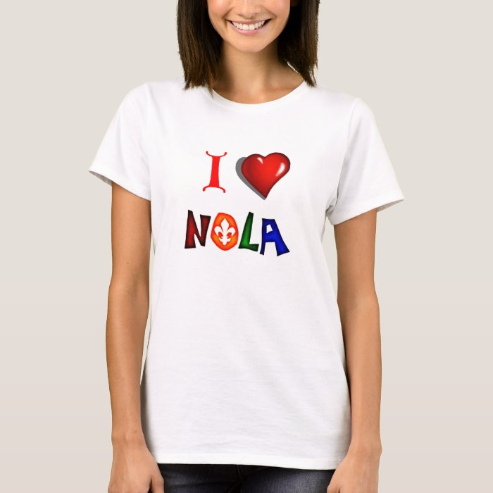 I love new orleans louisiana t shirt zazzle for T shirt printing new orleans